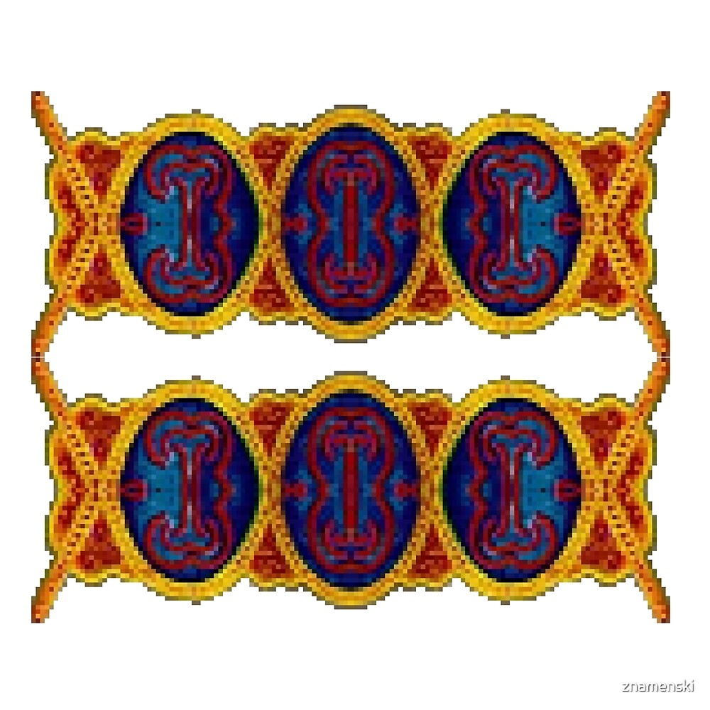 Ковровый узор балкарского или карачаевского   войлочного ковра - Carpet pattern of the Balkarian or Karachai felt carpet by znamenski