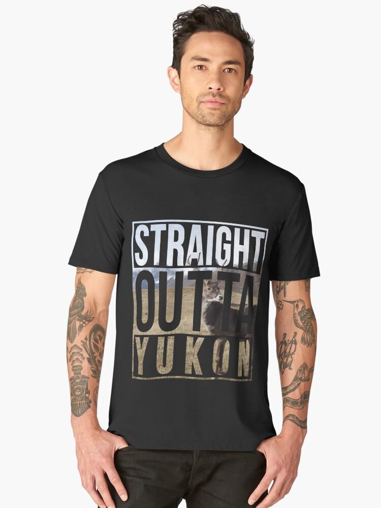 Straight Outta Yukon Men's Premium T-Shirt Front