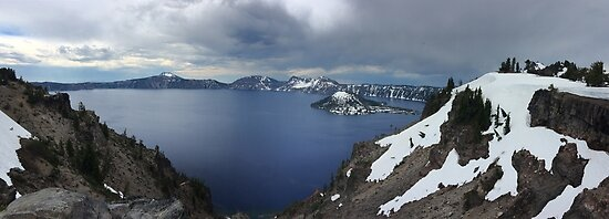 Overlooking Crater Lake  by Michelle Field