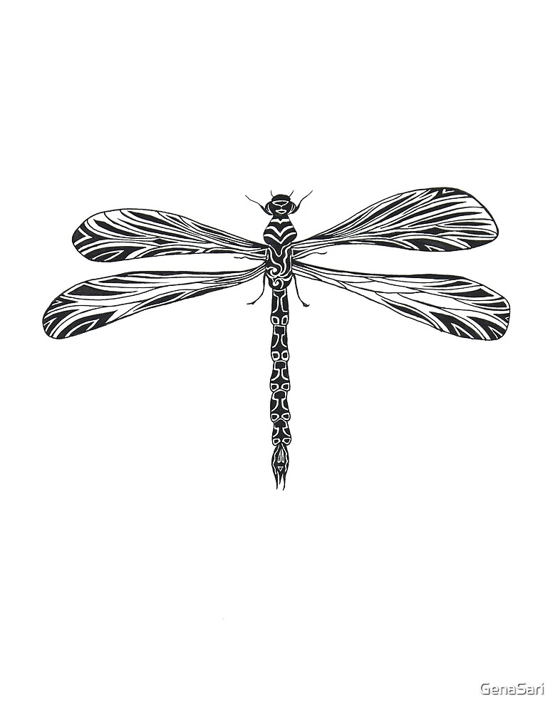 Dragonfly in Solitude by GenaSari