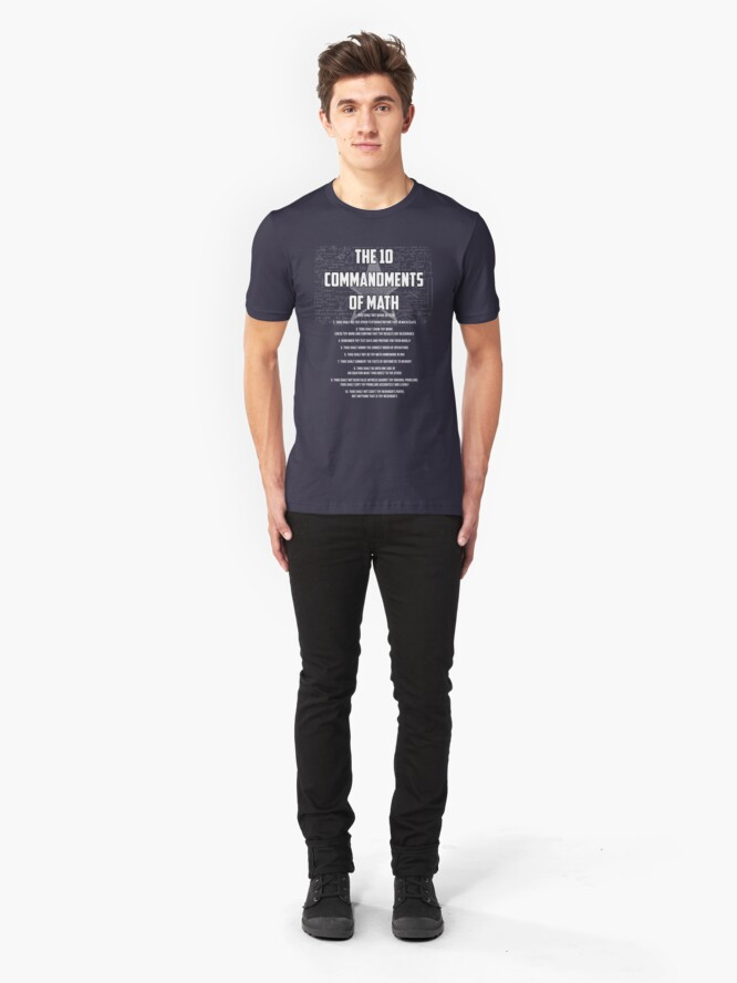 Alternative Ansicht von The 10 Commandments Of Math - Funny Mathematics Pun Gift Slim Fit T-Shirt