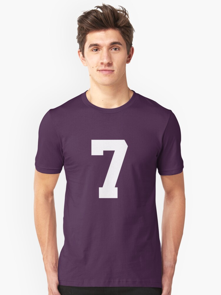 7. The number 7 on shirts and stuff. Unisex T-Shirt Front