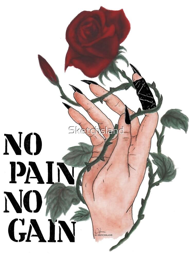 rose hand - no pain no gain by Sketchsland