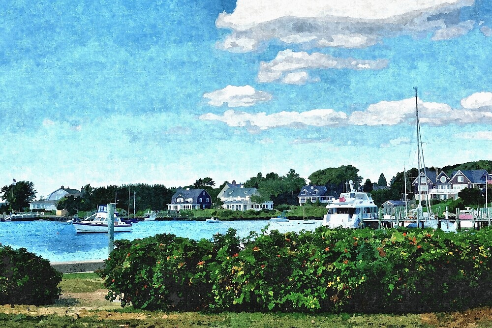 Small New England Harbor - Artistic by jtrommer