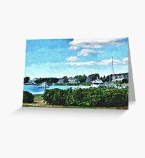 Small New England Harbor - Artistic Greeting Card