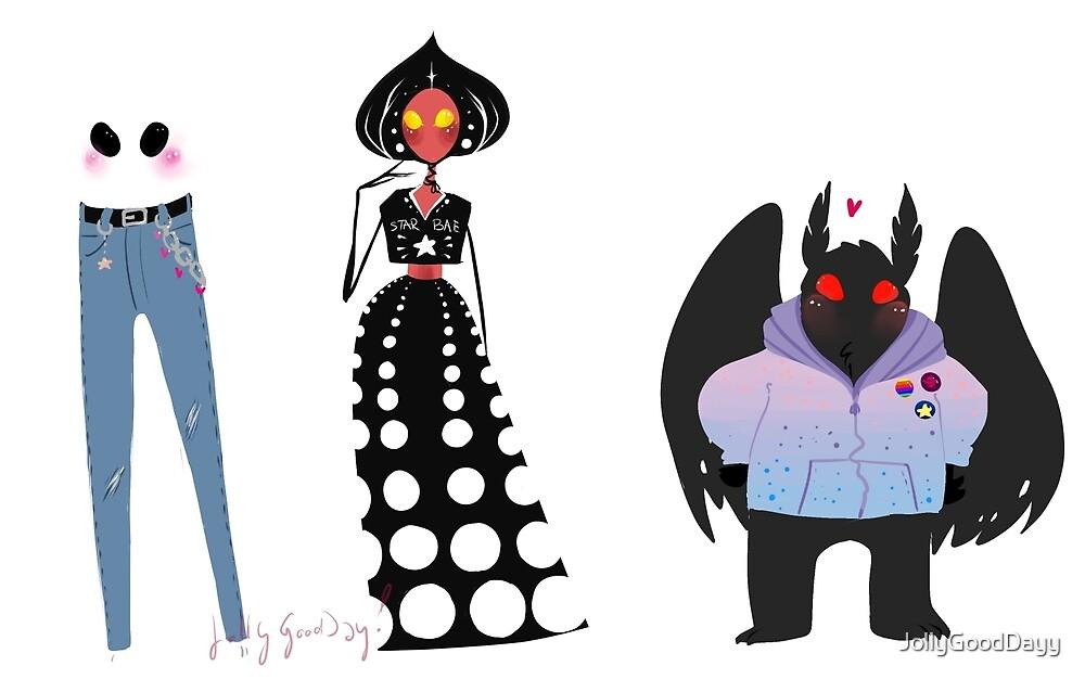 fashion cryptids by JollyGoodDayy