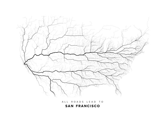 All Roads Lead to San Francisco (North America edition) by LaarcoStudio