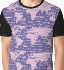 Hello World Languages Violet Lavender  Graphic T-Shirt