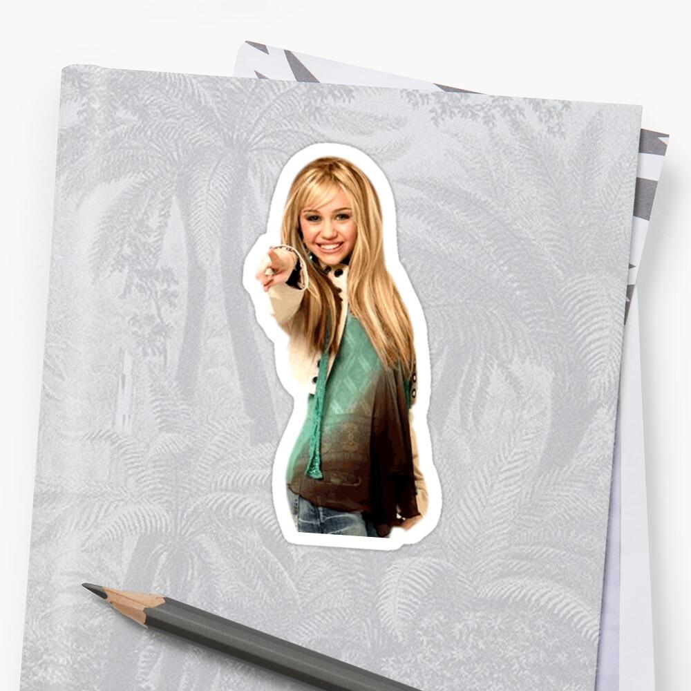 Hannah Montana pointing by slagzy the snail