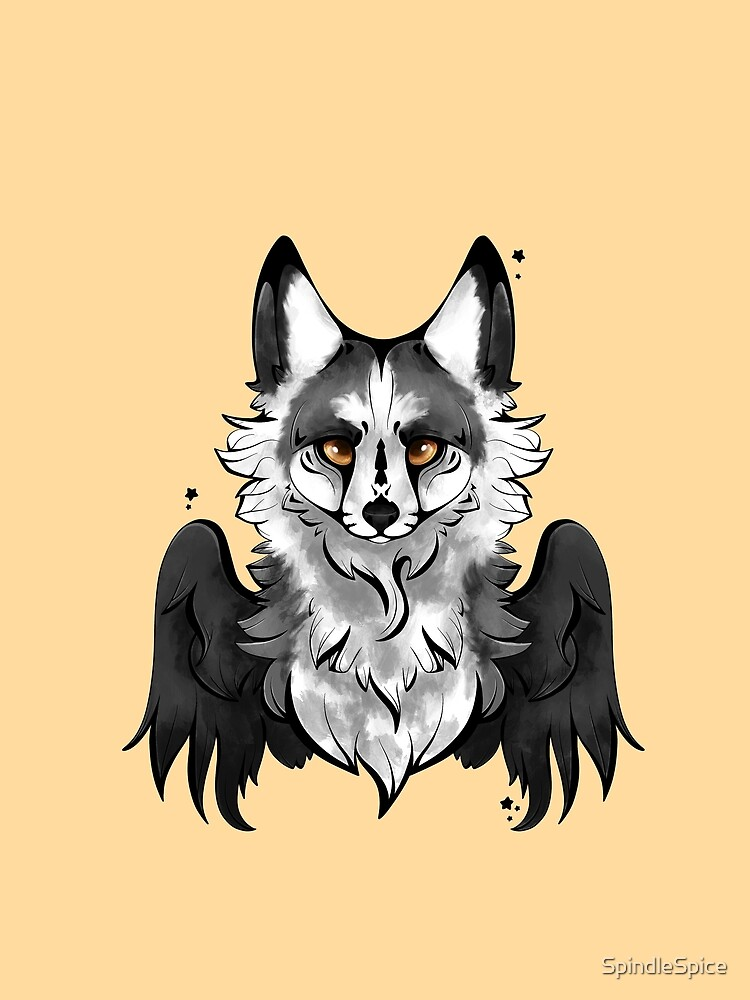 Marble Angel Fox by SpindleSpice