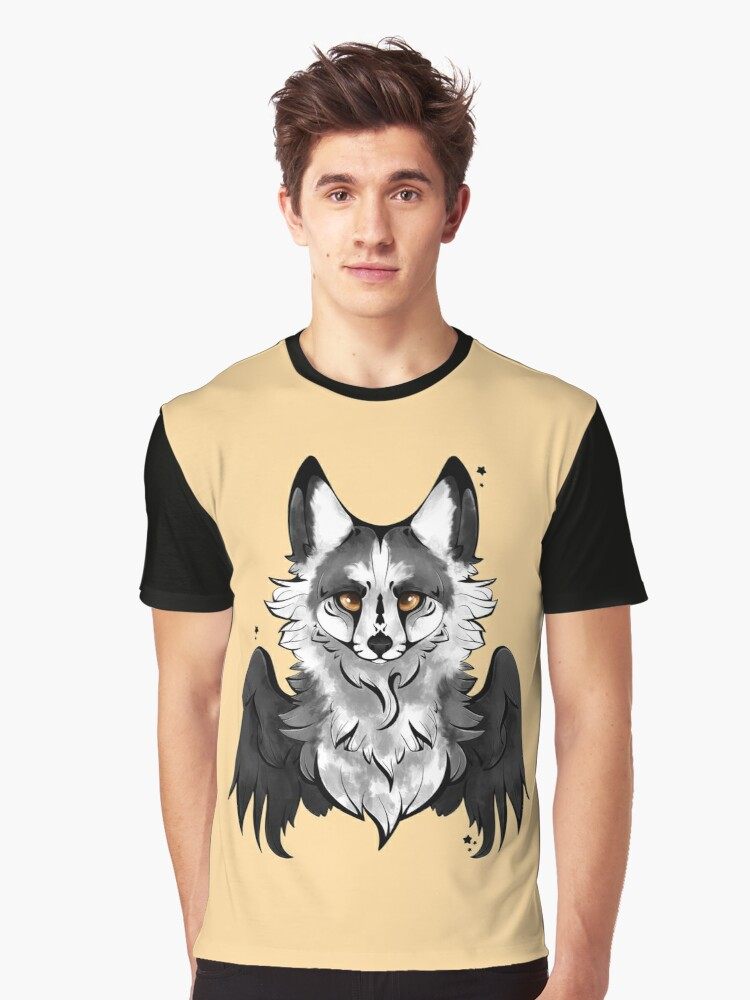 Marble Angel Fox Graphic T-Shirt Front