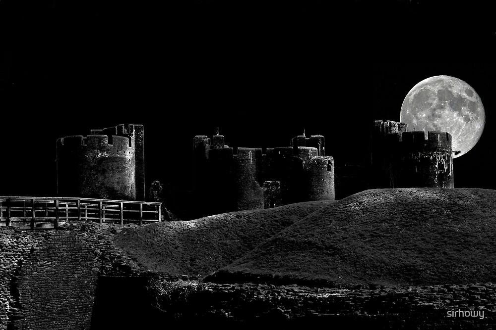 Caerphilly Castle by Night by sirhowy