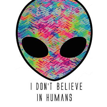 I don´t believe in humans t-shits  by JonatanHUF
