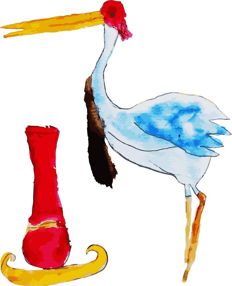 Crane by PlaviOrao
