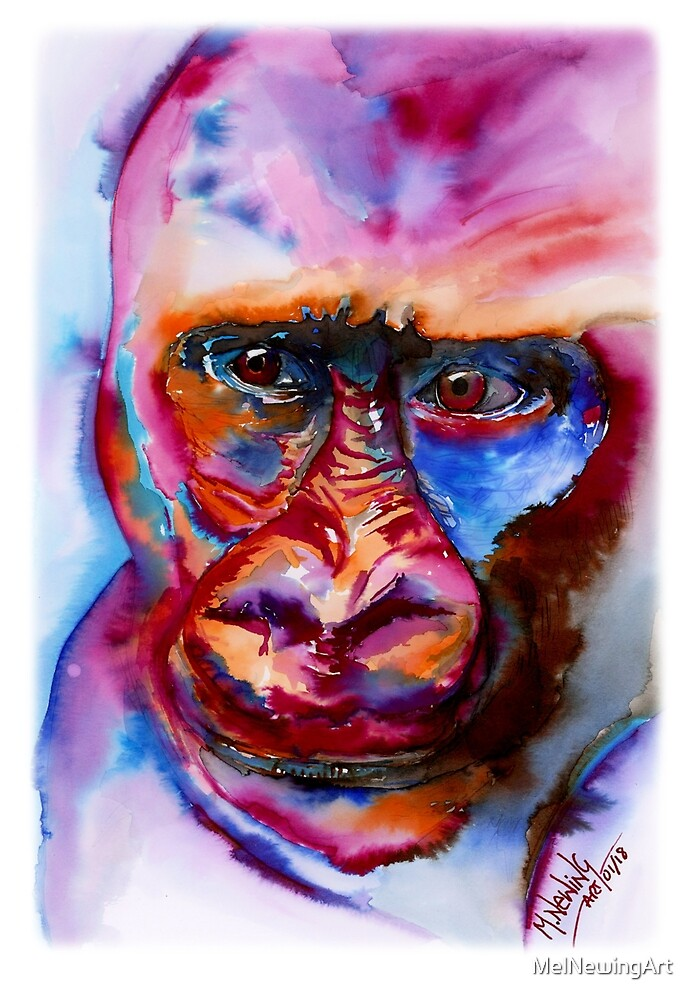 Gorilla by MelNewingArt