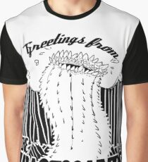 Greetings from the Wastelands black linework Graphic T-Shirt