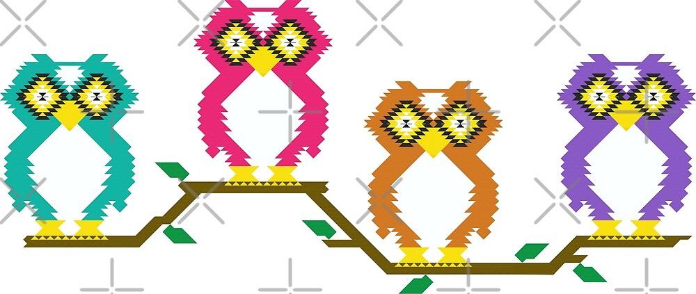 Kilim owl print  by B0red