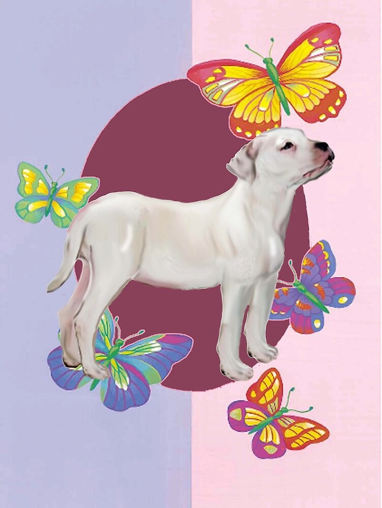 American Bulldog and Butterflies by IowaArtist