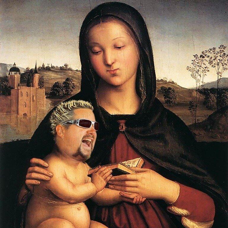 Guy Fieri Meme Renaissance Baby Meme by bartzlaura
