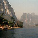 Boat cruise along the Li River, Guilin China by Bev Pascoe