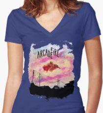 Arcade Fire Suburbs Women's Fitted V-Neck T-Shirt