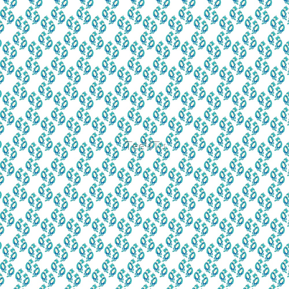 Blue ragdoll cat pattern by Tee4Tu