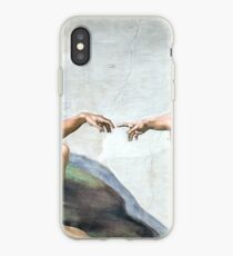 Ikonische Michelangelo Erschaffung Adams iPhone-Hülle & Cover