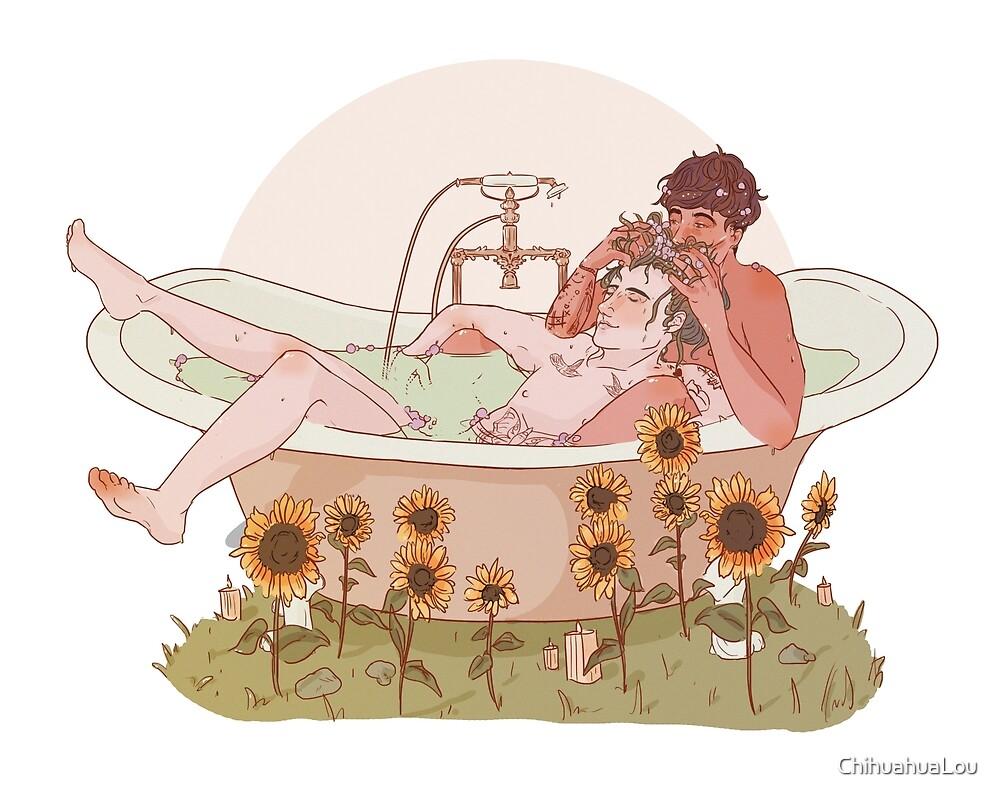 Sunflower Bath - Louis + Harry by ChihuahuaLou