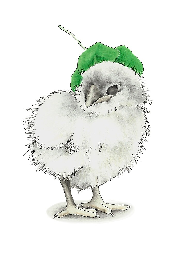 Chick with a hat by KiboriArt
