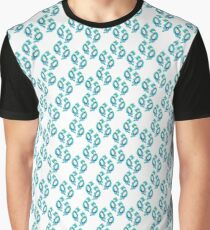 Blue ragdoll cat pattern Graphic T-Shirt