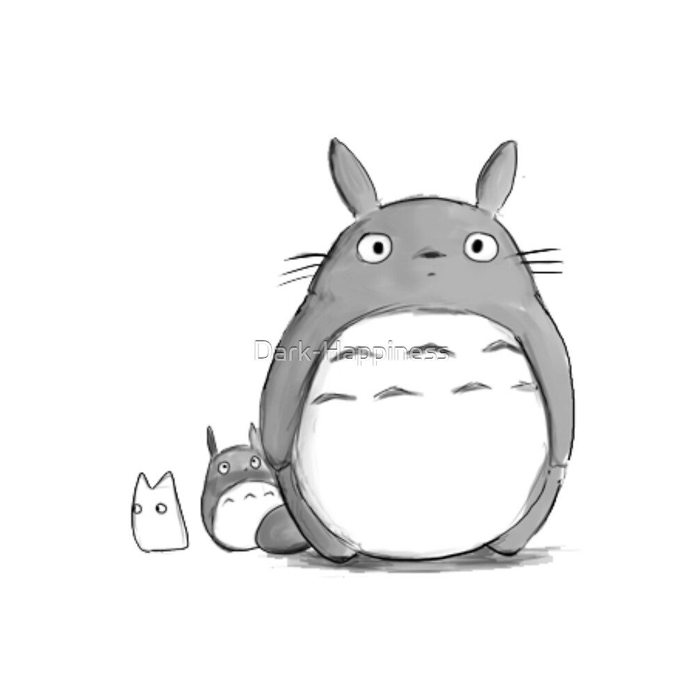 Cute Totoro and friends by Dark-Happiness