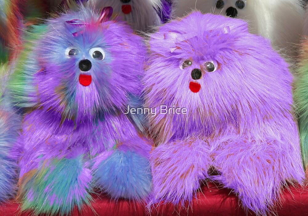 Purple Plush Toys  by Jenny Brice