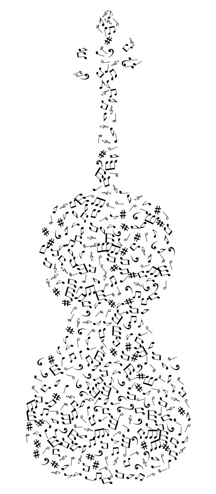 Violin and Musical Notes Illustration by pdgraphics