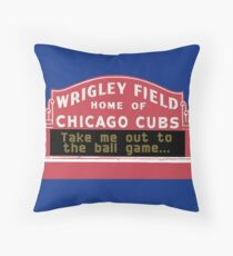 Take Me Out to the Ball Game, Wrigley Field Floor Pillow