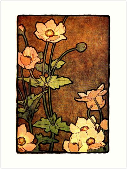 Adelaide Robineau - Anemone - 1907 by Michael Kessel