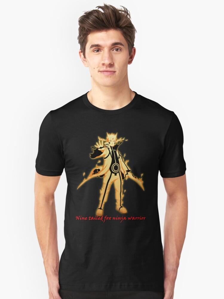 Nine tailed fox ninja warrior Unisex T-Shirt Front