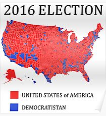 2016 Election Map Posters | Redbubble