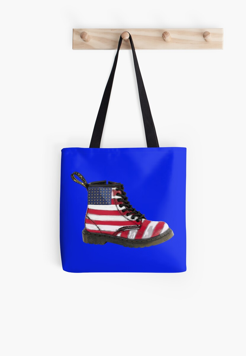 USA Flag Worn Look Doc Martens Dr Martens Old Glory Trending by Glyn123