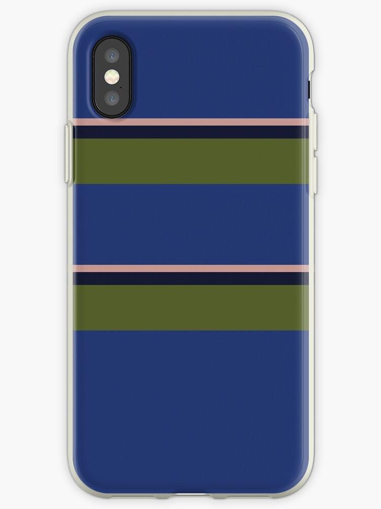 Royal Blue/Olive Green/Navy Blue/Pale Peach Big Stripe by sidebar