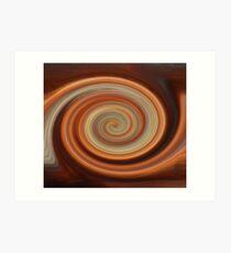 Twirled Copper  Art Print