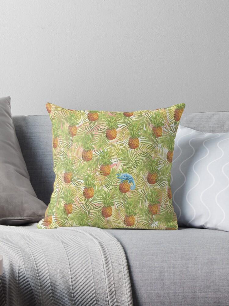 Pineapple and Chameleon Pattern by Bleshka-Design