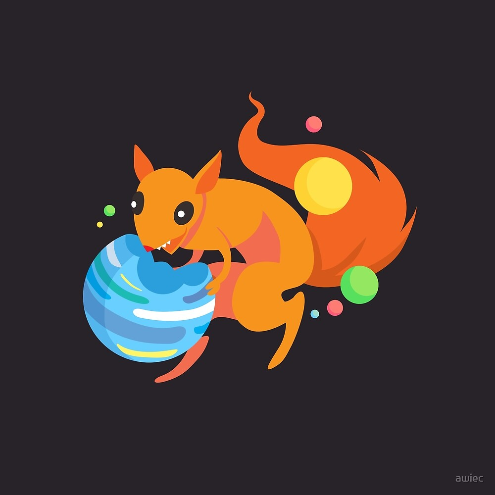 Eater of Worlds Squirrel of Doom by awiec