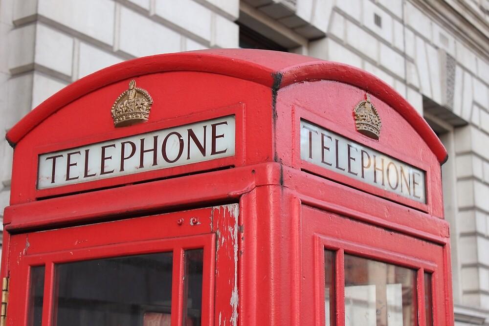 London telephone booth by Bereket Kelile