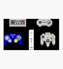 Retro Nintendo Controllers Pixel Art Photographic Print