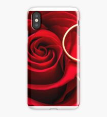 Valentine's Day Red Rose and Rings iPhone Case