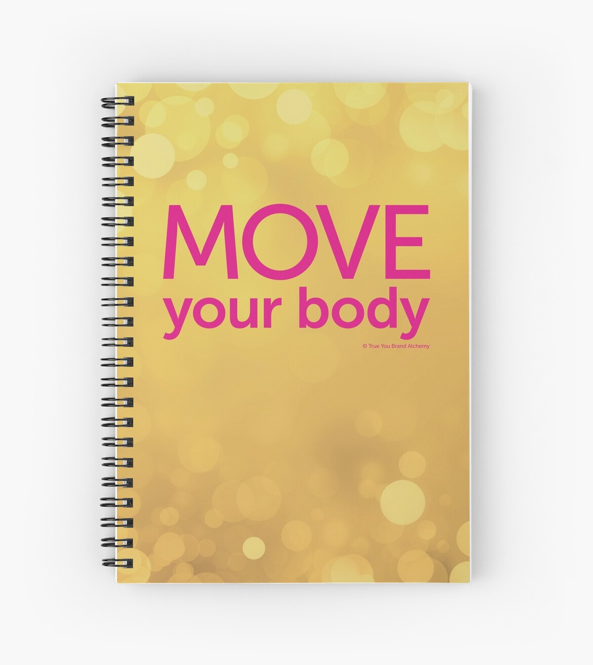 Move Your Body Golden Journal by ElaineCallahan
