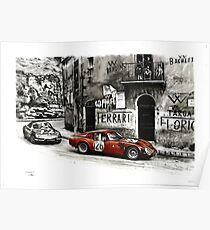 Póster Targa Florio 1966. Alfa Romeo TZ-2