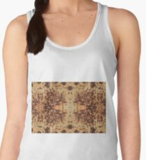 Dirty, rusty, scratched iron sheet with rusty bolts and nuts Women's Tank Top