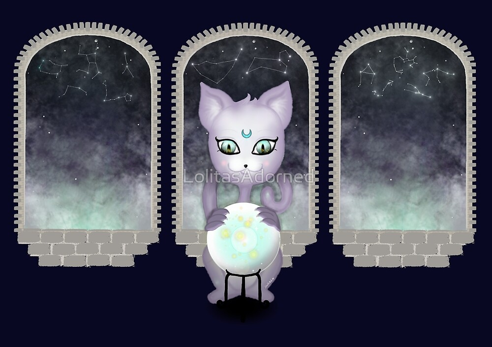 Mystic Miku | Crystal Ball & Zodiac | Navy by LolitasAdorned