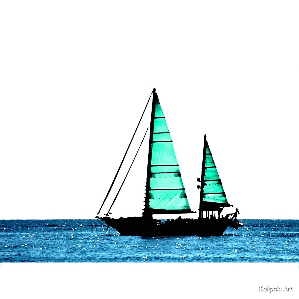 sailboat by Kolipoki Art